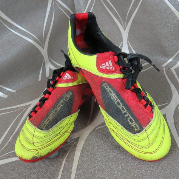 ADIDAS FG Predator 2010 yellow boots cleats size UK4 US4.5 EU (1)