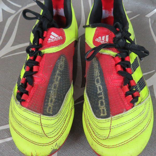 ADIDAS FG Predator 2010 yellow boots cleats size UK4 US4.5 EU (3)