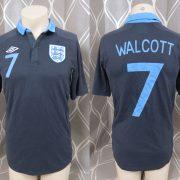 England 2011-12 away shirt Umbro soccer jersey Walcott 7 size S EURO 2012 (1)