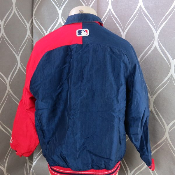 MAJESTIC Cleveland Indians MLB Bomber Jacket sz Youth heavy quality (2)
