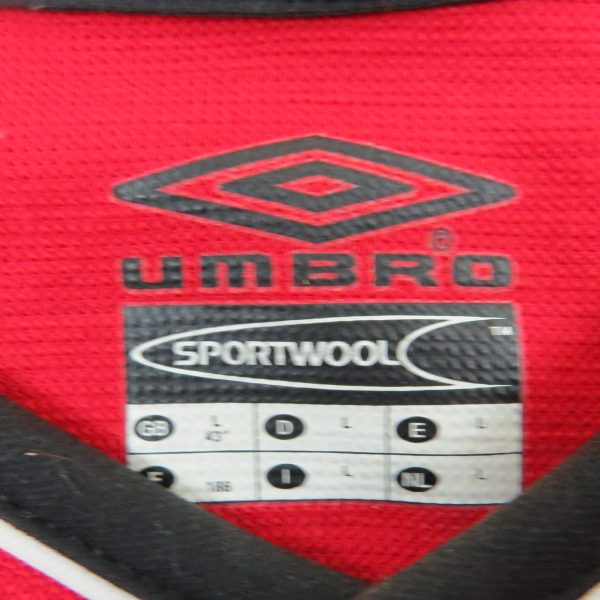 Manchester United 2000-02 home shirt Umbro soccer jersey size L (4)