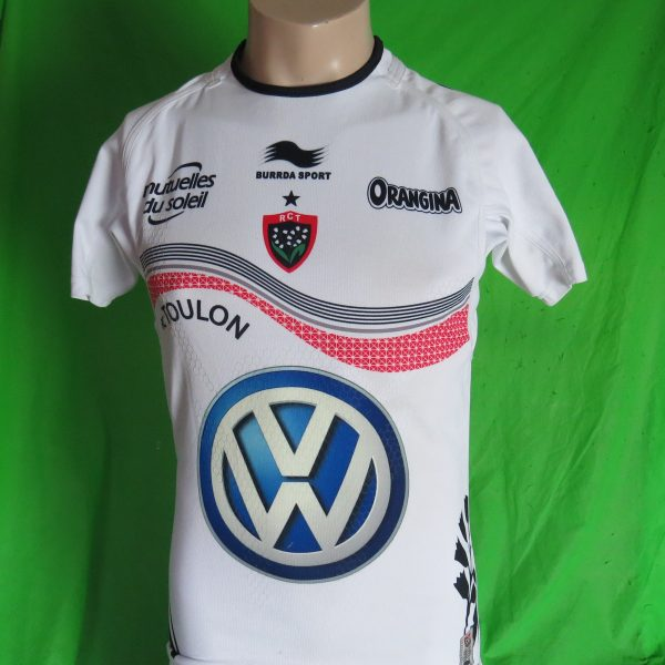 Toulon 201314 3rd SS Players Authentic Rugby Shirt BlackRed – size M (1)