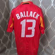 Rare Germany 2004-05 third shirt adidas #13 Ballack soccer jersey size L (3)