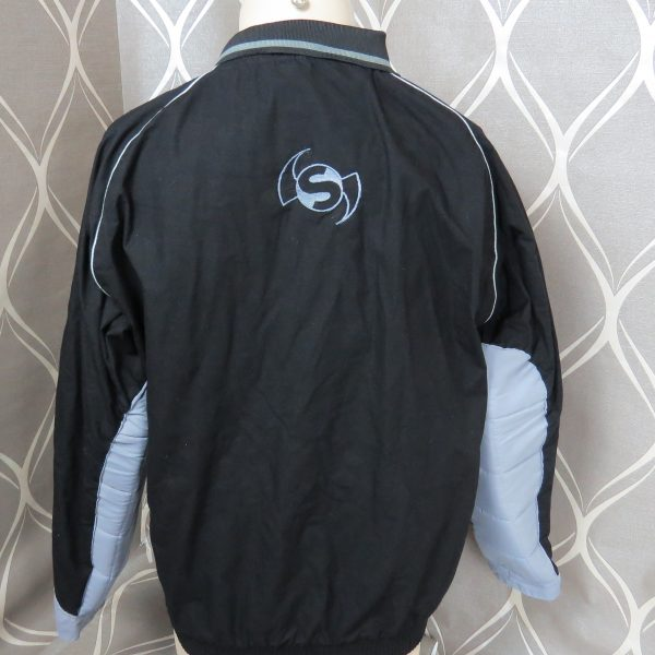 Selsport black padded cotton goalkeeper shirt soccer jersey size L (2)