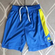 UHLSPORT blue football shorts size Boys 110-116 (4-5Y) (1)