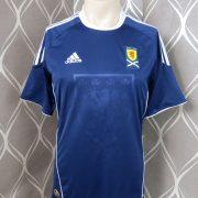 Scotland 2010-11 home shirt adidas soccer jersey size S (1)