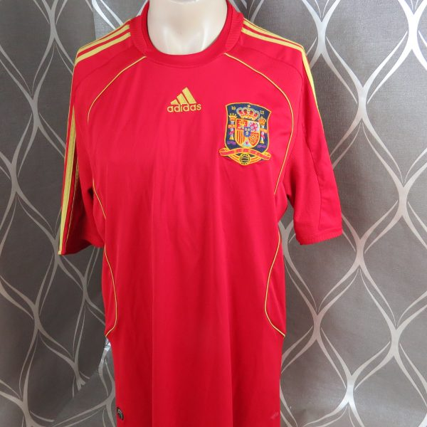 Spain 2008-09 home shirt adidas soccer jersey size XL EURO 2008 (1)