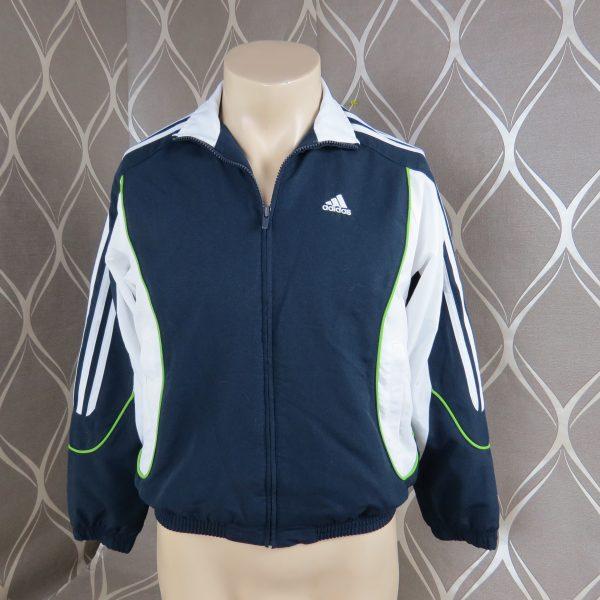 Adidas 2008 navy tracksuit shell jacket size Boys M 152 10-12Y (1)