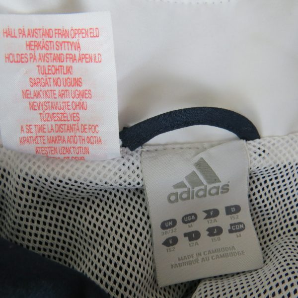 Adidas 2008 navy tracksuit shell jacket size Boys M 152 10-12Y (2)