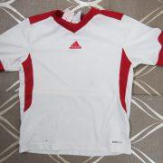 Adidas 2009 Climalite white sports football shirt size XXS 140cm 9-10Y (1)