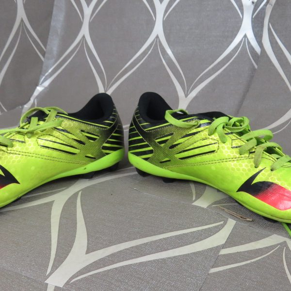 Adidas Ace Messi 15.4 FXG Boys lime green Football BOOTS FG UK5 EU 38 (2)