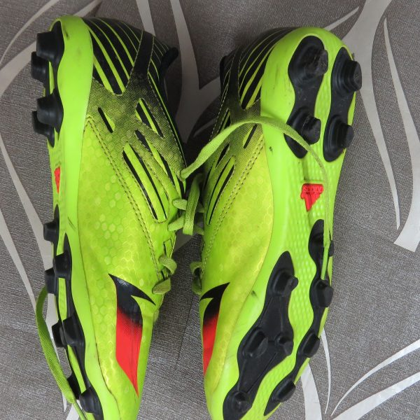 Adidas Ace Messi 15.4 FXG Boys lime green Football BOOTS FG UK5 EU 38 (5)