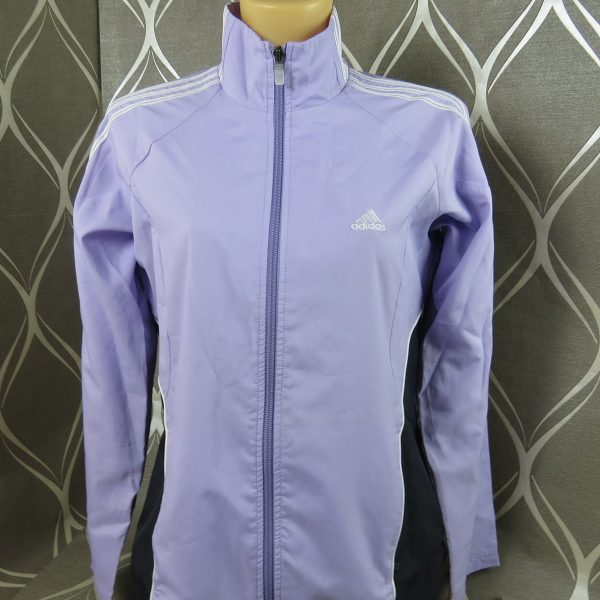 Adidas ladies 2003 purple tracksuit shell jacket size UK12 EU38 (1)