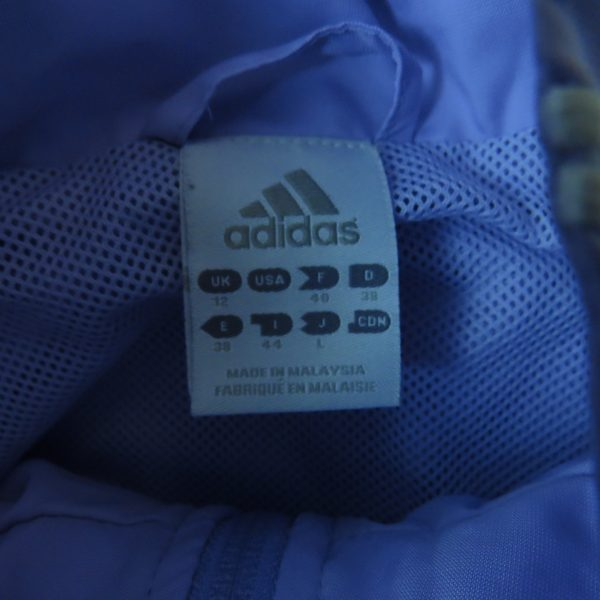 Adidas ladies 2003 purple tracksuit shell jacket size UK12 EU38 (3)