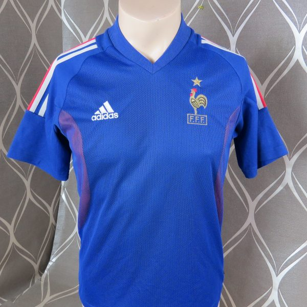 low priced 76b7f 4964a France World Cup 2002 home shirt adidas soccer jersey size XS