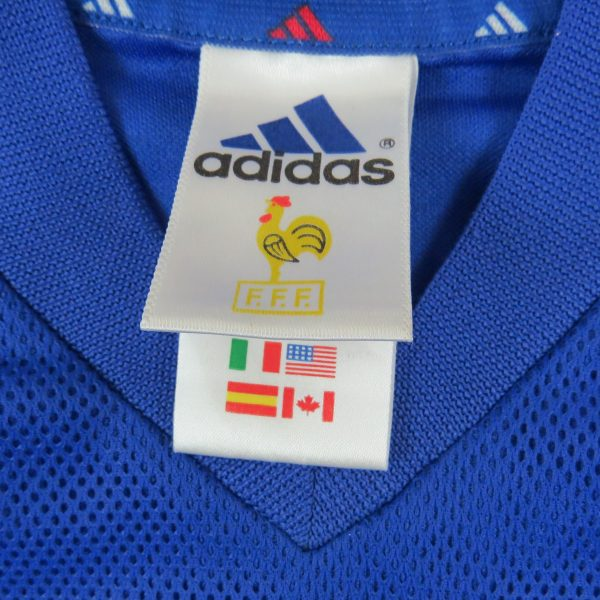 France World Cup 2002 home shirt adidas soccer jersey size XS (3)