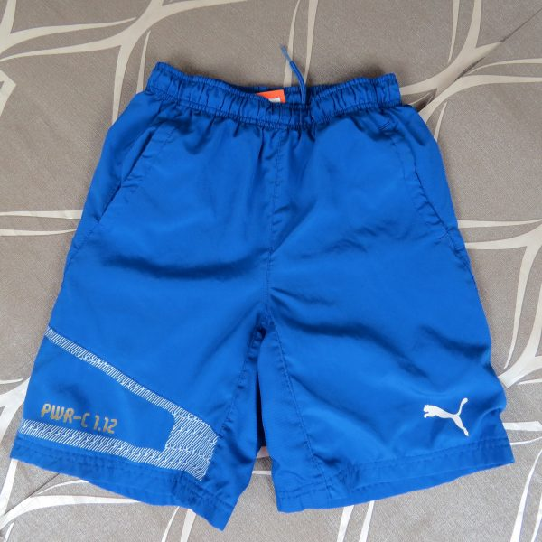 Puma PWR-C 1.12 blue football sports shorts size Boys M 140cm 10Y (1)