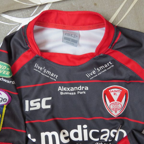 St Helens RFC 2011 away shirt ISC rugby jersey size S (3)