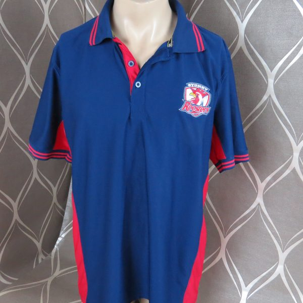 Sydney Roosters NRL polo shirt Rugby jersey size L (1)