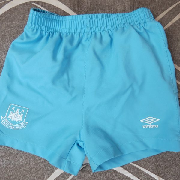 West Ham United 2015-16 away shorts Umbro size baby 6-12mth 74cm (1)