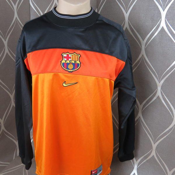 b0dacaa32 Barcelona 1999-00 padded GK shirt Nike soccer jersey size L (1)