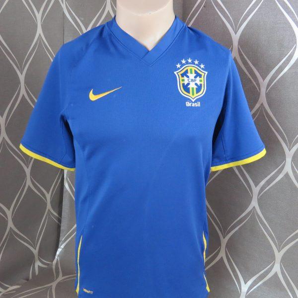 Brazil 2008-10 away shirt Nike Brasil soccer jersey size S (1)