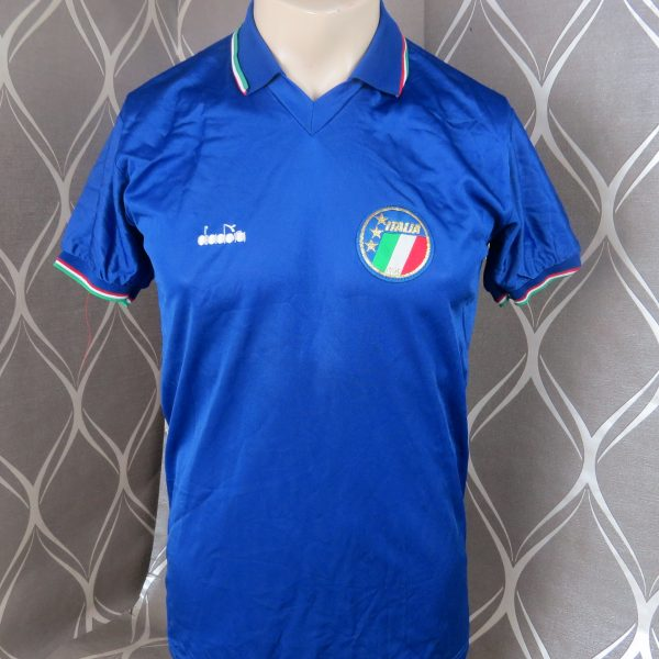 Italy 1986-90 home shirt Diadora maglia soccer jersey size M MINT (1)