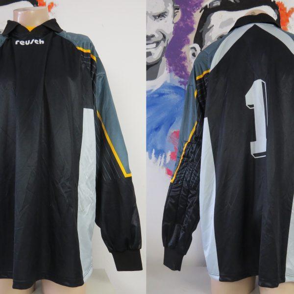 Reusch ls shirt black padded Goal Keeper #1 soccer jersey size XXL
