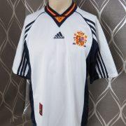 Spain 1998 away shirt soccer jersey adidas Hierro 6 size M World Cup 1998 (1)
