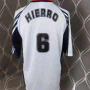 Spain 1998 away shirt soccer jersey adidas Hierro 6 size M World Cup 1998 (3)