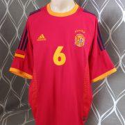 Spain 2002-04 home shirt adidas soccer jersey Hierro 6 XL World Cup 2002 (2)