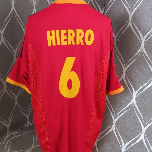 Spain 2002-04 home shirt adidas soccer jersey Hierro 6 XL World Cup 2002 (3)
