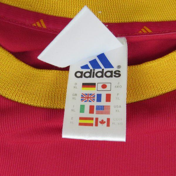 Spain 2002-04 home shirt adidas soccer jersey Hierro 6 XL World Cup 2002 (4)