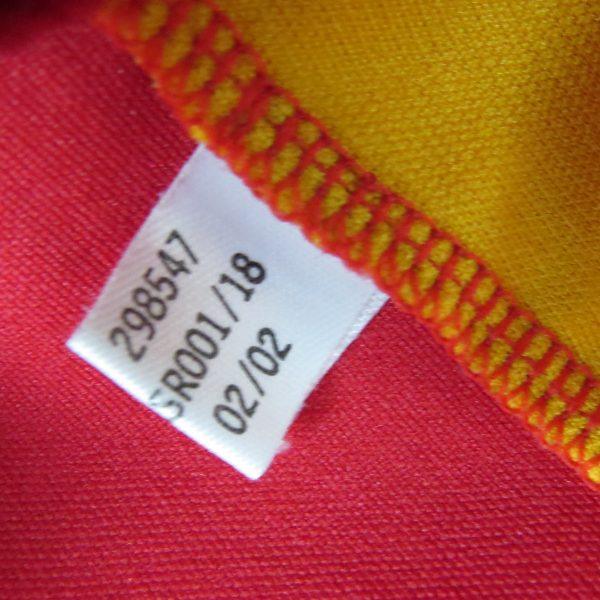 Spain 2002-04 home shirt adidas soccer jersey Hierro 6 XL World Cup 2002 (5)