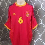 Spain 2002-04 home shirt adidas soccer jersey Hierro 6 XL World Cup 2002 (6)