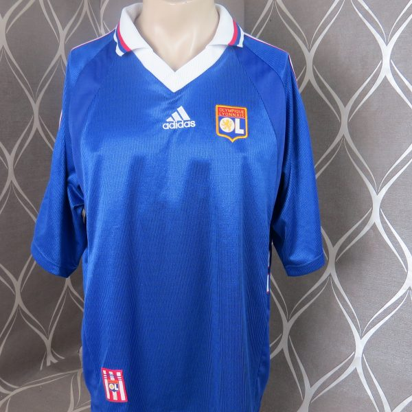 release date: d2084 4cac0 Olympique Lyon 1998-99 away shirt adidas soccer jersey size XL