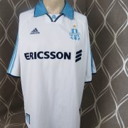 Olympique Marseille 1999-00 home shirt adidas soccer jersey size XL (1)