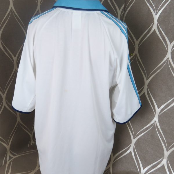 Olympique Marseille 1999-00 home shirt adidas soccer jersey size XL (3)