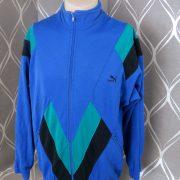 PUMA 1980ies tracksuit blue jacket size M (Puma size 5) (1)