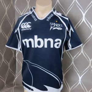 83116797d20 Sale Sharks home shirt Canterbury rugby jersey size M