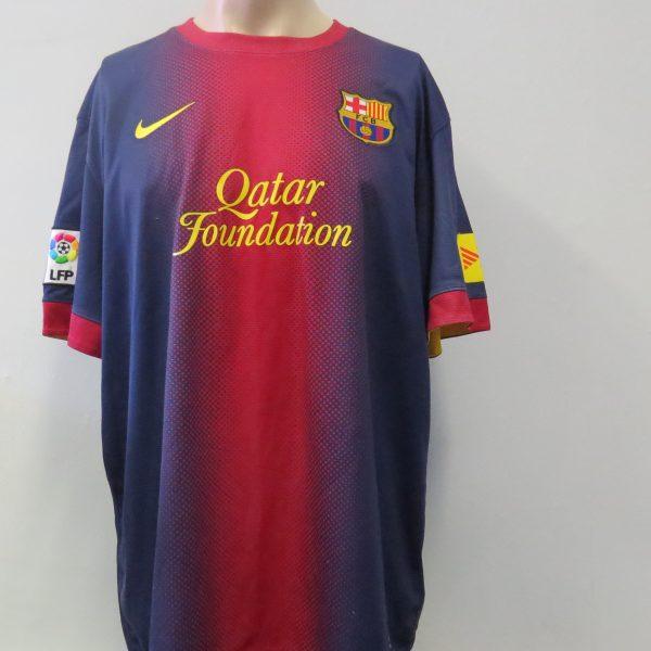 7b424542e Barcelona 2012-13 home shirt Nike soccer jersey size XL – Football ...