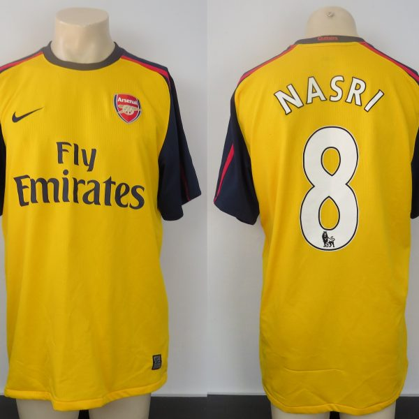 5c6bd1f64 Arsenal 2008-09 away shirt Nike soccer jersey Nasri 8 size L ...