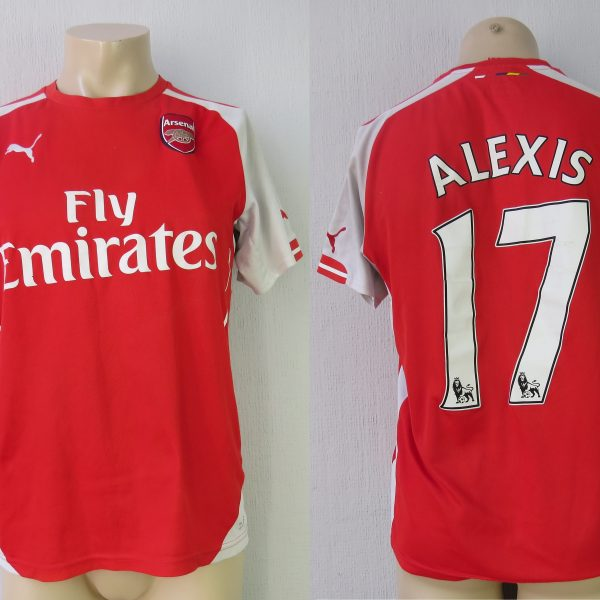 47b5fea2116 Arsenal 2014-15 home shirt Puma soccer jersey Alexis 17 size M ...