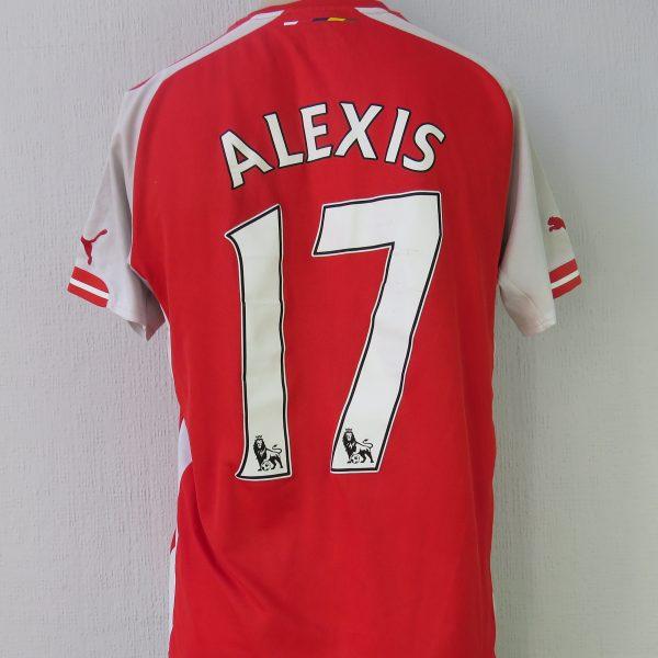 size 40 9a1fd 06171 Arsenal 2014-15 home shirt Puma soccer jersey Alexis 17 size M