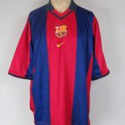 Barcelona 2000-01 home stadium shirt Nike soccer jersey size XL (1)