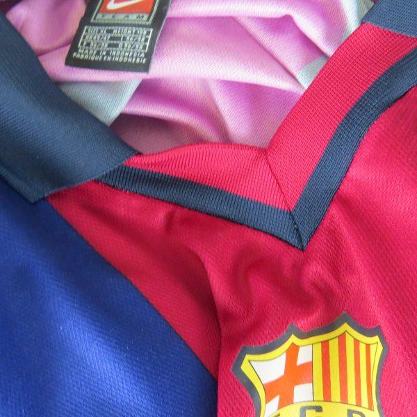 best sneakers 0a801 3f993 Barcelona 2000-01 home stadium shirt Nike soccer jersey size XL
