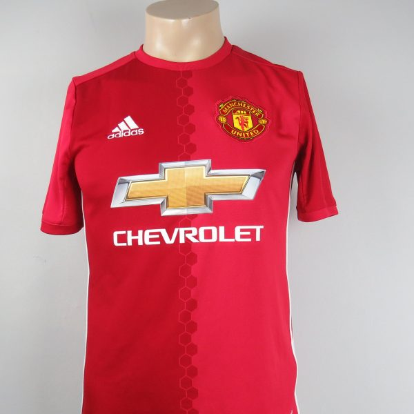 buy popular 92eb0 01dd1 Manchester United 2016-17 home shirt adidas soccer jersey Boys L 164cm  13/14Y