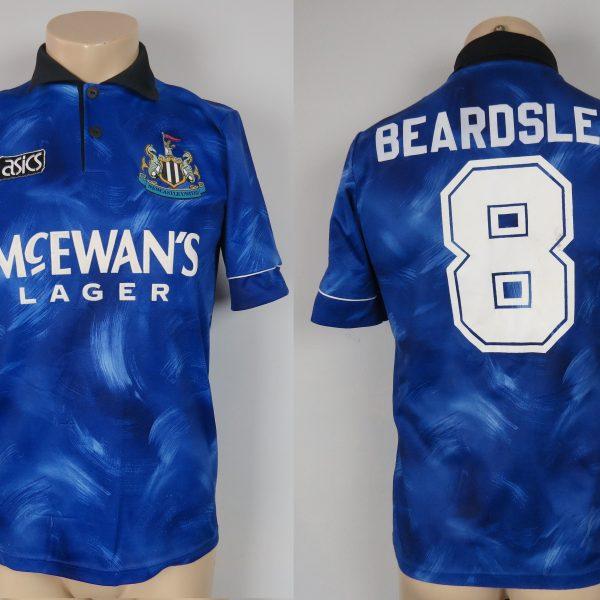 Newcastle United 1993 95 away shirt adidas jersey Beardsley 8 size S