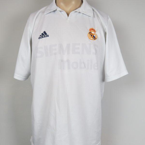 Real Madrid 2001-02 LFP Centenary home shirt adidas soccer jersey size L (1)