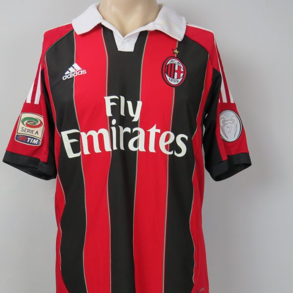 AC Milan 2012-13 Serie A home shirt adidas jersey Bojan 22 size S (4)